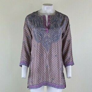 Gretchen Scott Embroidered Tunic Top